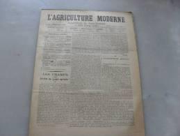 L´Agriculture  Moderne  N ° 48  29 Novembre  1896 - Libri, Riviste, Fumetti