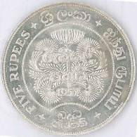 Buddha Jayanthi 2500th Anniversary Coin 1957 Ceylon Uncirculated Commemorative Coin - World Wide Shipping Free - Sri Lanka