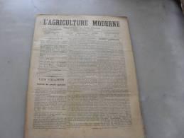 L´Agriculture  Moderne  N ° 45  8  Novembre  1896 - Libri, Riviste, Fumetti