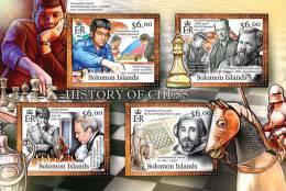 SOLOMON Isl. 2013 MNH** - History Of Chess - Echecs