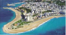 1909  RHODES Aerial View (Aquarium, Grand Hotel, Rodon, Mediterannean Hotel) GREECE GRECE GRECIA Panoramic 17X22.5 - Greece