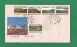 Australien 1992  Mi.Nr. 1301 / 05 , First Day Of Issue  09 April 1992 - Vineyard Regions  - - FDC
