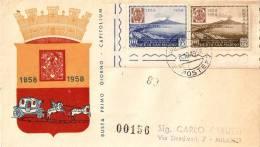 *SAN MARINO - 1958 - CENTENARIO DEL FRANCOBOLLO DEL REGNO DI NAPOLI* (FDC ) - FDC