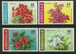 "Anguilla     "" Flowers ""     Set    SC# 70-73  MNH** - Anguilla (1968-...)"