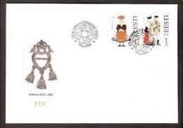 Estonia 1994 2 Stamps Mi 235-36  FDC  Folclore Costumes - Estonia