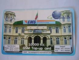 Myanmar Birmanie Burma Birma EMS International Mail Service 10000 Ks Mobile GSM Prepaid TOP UP Card EXP: 13.6.2013