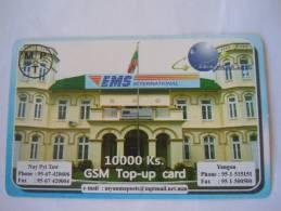 Myanmar Birmanie Burma Birma EMS International Mail Service Mat 10000 Ks Mobile GSM Prepaid TOP UP Card EXP: No Date