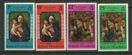 "British Honduras   ""Christmas 1969,Paintings  ""    Set   SC# 247-50   MNH** - British Honduras (...-1970)"