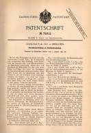 Original Patentschrift - Dahlhaus & Co In Iserlohn , 1893 , Apparat Für Drahtziehscheiben , Draht , Metallbau !!! - Documents Historiques