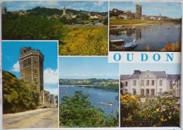 Oudon Tour Loire Vues Port Plaisance Maison Hospitaliere Voyagé Timbre Cachet Dinan Flamme - Oudon