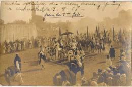 MAROC MARRAKECH CARTE PHOTO ENTREE SULTAN MOULAY YOUSSEF 1918 - Marrakech