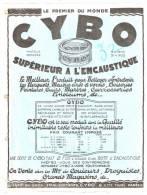 """""""CYBO"""" Supérieur à L'Encaustique Années 30  Format A4 - Publicités"""
