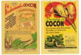 Produisez Du Cocon   2 Cartes Publicitaires   C 93 & C94  Musée De La Soie - Craft