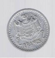 MONACO - 2 Francs   KM121 - 1922-1949 Louis II