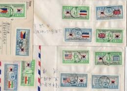 Flags 1951 UNO Complete On Cover SUPER RARE !!! (ZK51) - Corea Del Sud