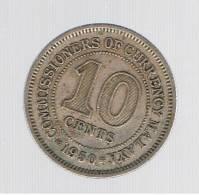 MALAYA - 10 Cents  1950  KM8 - Malasia