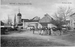 GEVRY -PLACE ET GRANDE RUE  JURA - France