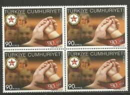 Turkey; 2011 90th Anniv. Of Social Services And Child Protection Society (Block Of 4) - Nuevos