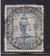 1924-29 LIBIA USATO PITTORICA 25 CENT - Libya