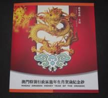 """China Macau, 2012, $10, """"only Folder"""", BOC & BNU Cute Dragon, """"JUST FOLDER"""" ! - Macao"""