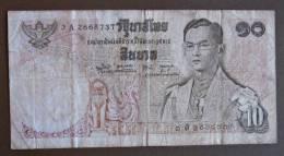 Banknote Papermoney Asien Thailand 10 Baths - Thailand