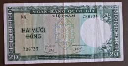 Banknote Papermoney Asien VIETNAM 20 DONG - Vietnam