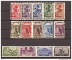 MA105STV-LFT3911TVA.Maroc Marocco MARRUECOS ESPAÑOLPAISAJES Y MONUMENTOS 1928 (Ed 105/18**)  Sin Charnela.MAGNIFICA RARA - Árboles