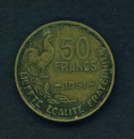 FRANCE - 1951 50f Circ - France