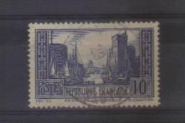 N°261port De La Rochelle 10f Bleu Oblitere - Oblitérés