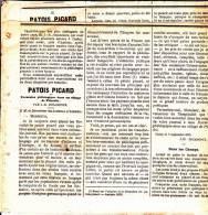 12 Des 13 Articles: Patois Picard - Excursion Philologique Dans Un Village De Picardie - Par J.-B. Jouancoux. 1875. - Vieux Papiers