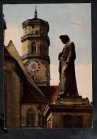 H388 Stuttgar Stifskirche Mit Schillerdenkmal - Flamme: Wrilhelma 1966 - Germany - Stuttgart