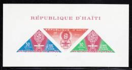 Haiti MNH Scott #C190a Imperf Souvenir Sheet Of 3 Malaria Eradication Without Inscription At Bottom - Haïti