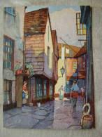UK LOOE - Middle Market St.  - Signed Anne Croft     D101488 - England