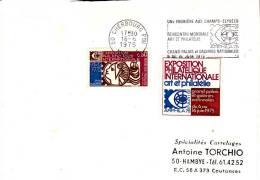 LSI 1785  Expostion Internationale Art Et Philatélie 1975 Concordance Hambye - Marcophilie (Lettres)