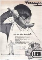 Publicité    Liebig Francois   FRRANCOIS     Si Ton Père Etait La  Cuisine Cooking - Publicités