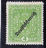 1919 DEUSCHÖSTERREICH LZ 11,5 ** - Unused Stamps