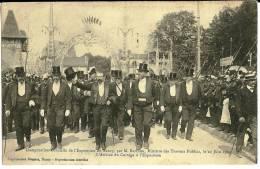 Inauguration Officielle Exposition  Nancy Par M. Berthou, Min. Travaux Publics Le 20/06/1909. Arrivée Du Cortège à L'Exp - Nancy