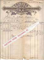Rechnung 1885 - INNSBRUCK - IMST - WATTENS - ABSAM - ACTIEN-GESELLSCHAFT DER PAPIERFABRIKEN   Traducteur Automatique Tr - Austria