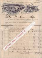Rechnung 1904 - NÜRNBERG - VICTORIA WERKE - Schnellpressen Fabrik - Non Classés