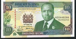 KENYA  P24   10  SHILINGI  1989    UNC. - Kenia