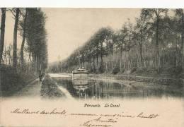 Peruwelz Le Canal Peniche Halage  Timbrée 1904 - Péruwelz