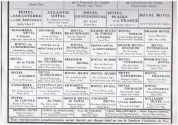 PUBLICITE 1925   HOTEL DE NICE  HOSTELS  HOTELS - Pubs, Hotels And Restaurants