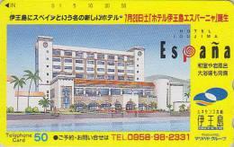 Télécarte Japon - Espagne - Hotel Espagnol Ioujima Nagasaki 1 - Japan Phonecard  / SPAIN España - Paysages