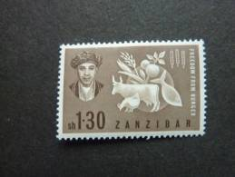 ZANZIBAR, Année 1963, Lutte Contre La Faim, YT N° 257 Neuf, Très Légère Trace Charnière, Très Bon état - Zanzibar (1963-1968)