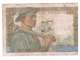 BILLET DE 10 FRANCS FRANCAIS - 1871-1952 Circulated During XXth