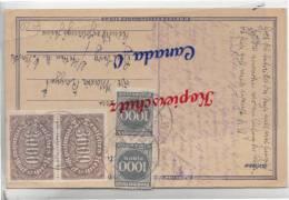 B  3  --  Postkarte Vn. Heuzberg  B. Stetten  258.1923  Mi.# 25 MiF - Covers & Documents
