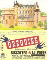 Buvard Biscttes Gregoire Chateau  D´amboise - Biscottes