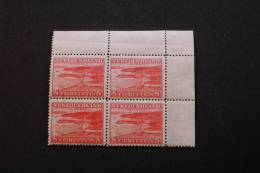 Newfoundland 209 Block Of 4 Upper Right Corner Brookk Paper Mills MNH 1932 A04s - 1908-1947
