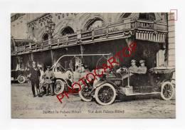 PALACE Hotel-Liege-Lüttich-Voiture-Automobile-Animation-Carte Allemande-Guerre 14-18-BELGIEN-BELGIQUE-Militaria-Feldpost - Liege