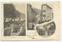 VILLEFORT (LOZERE - 48) - CPA - LE BOSQUET / RUE DE LA BOURGADE / ENTREE DE LA VILLE COTE NORD - Villefort